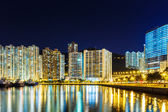 Sha Tin in Hong Kong at night — Stock Photo