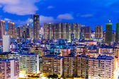 Residential district in city at night — Stock Photo