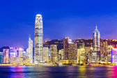 Skyline at night in Hong Kong — Stock Photo