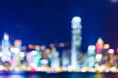Sfocato sullo skyline di hong kong — Foto Stock