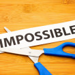 Stock Photo: Impossible becomes possible