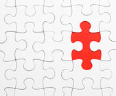 Incomplete puzzle with missing piece — Stock Photo