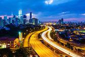 Kuala Lumpur skyline at night — Stock Photo