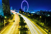 Highway in Singapore at night — Stock Photo