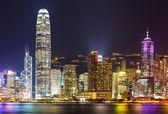 Cityscape hong kong gece — Stok fotoğraf