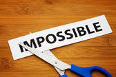 Impossible becomes possible — Stock Photo
