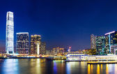 Kowloon at night in Hong Kong — Foto Stock