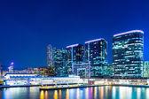 Kowloon no centro da cidade à noite — Fotografia Stock