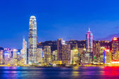 Cityscape in Hong Kong during sunset — Stock Photo