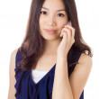 Asian woman using mobile — Stock Photo