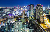 Tokyo city at night — Stock Photo