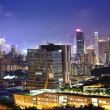 Downtown district in Hong Kong at night — Stock Photo #31673089