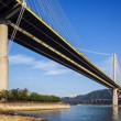 Ting Kau suspension bridge in Hong Kong — Stock Photo