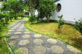Pebble stone path in the chinese garden — Stock Photo