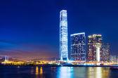 Kowloon skyline in Hong Kong — Stock Photo