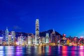 Hong Kong skyline at night — Stock Photo