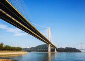 Ting kau y tsing ma puente colgante en hong kong — Foto de Stock