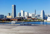 Yokohama skyline in Japan — Stock Photo