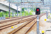 Railway signal light — Stock Photo