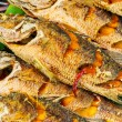Roasted fish for sell — Stock Photo