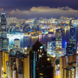 Cityscape in hong kong's nachts — Stockfoto #31942397