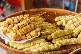 Grilled food on food market in Thailand — Stock Photo