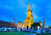 Wat Arun in Bangkok at night — Stockfoto