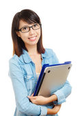 Asian university student — Stock Photo