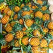 Fresh pineapples in fresh fruit market — Stock Photo