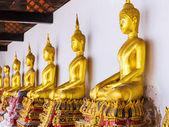 Goldene buddha-statue im tempel — Stockfoto