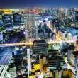 Urban city in Tokyo at night — Stock Photo
