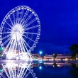 Ferris wheel in Bangkok at night — Stock Photo