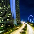 Singapore skyline at night — Stock Photo