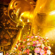 Giant golden recline buddhin Thailand — Stock Photo #32508027