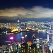 Hong Kong city view from peak at night — Stock Photo