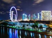 Singapore city at night — Stock Photo