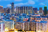 Stadt in hongkong bei nacht — Stockfoto