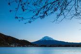 Mt. Fuji and lake — Stock Photo