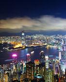 Hong Kong city view from peak at night — Stock Photo