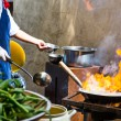 Cooking food at outdoor — Stock Photo