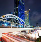 Bangkok cityscape and traffic congestion — Stock Photo
