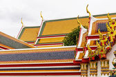Temple Roof Tile Pattern in Thailand — 图库照片