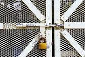 Metal door with lock — Stock Photo