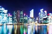Selective focus Singapore skyline — Stock Photo
