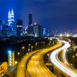 Kuala Lumpur city at night — Stock Photo
