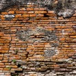 Ancient brick wall in red color — 图库照片