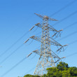 Stock Photo: Power distribution tower