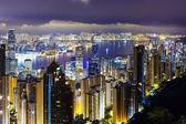 Skyline di hong kong dal picco — Foto Stock