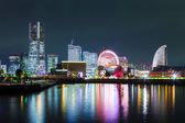 Yokohama city in Japan at night — Stock Photo