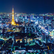 Tokyo skyline at night — Stock Photo